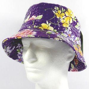 Super Cute Purple Floral Bucket Hat